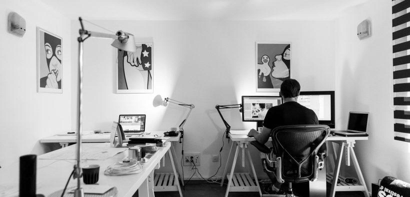 productive home office setup